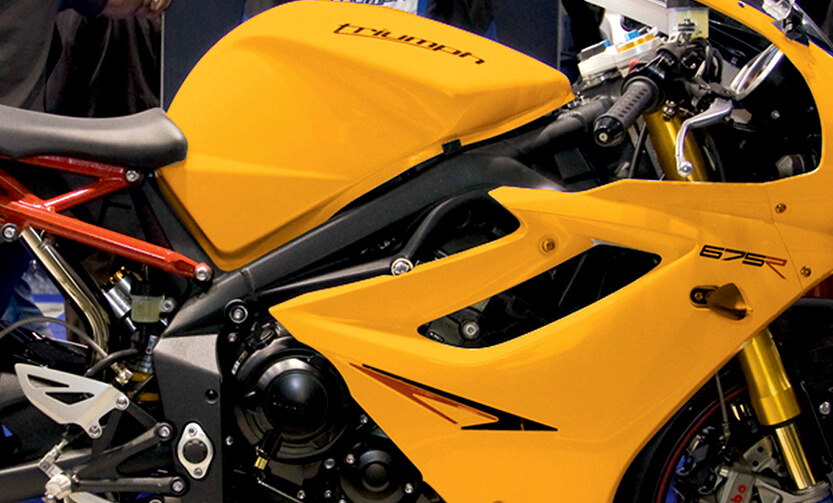 Motorcycle image | Automotive Coating | East Midlands Coatings