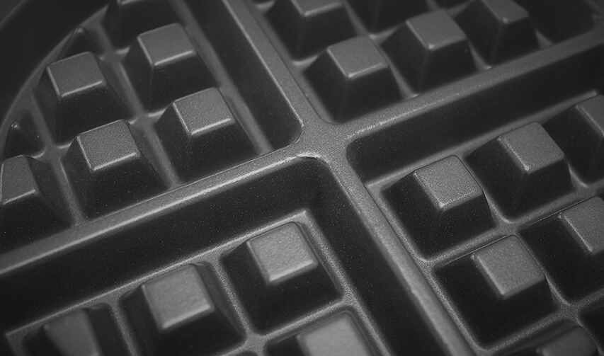 Waffle Image | Bakeware coating | East Midlands Coatings