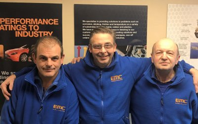 Trio of employees reach milestones